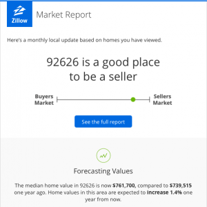 is it a sellers market in costa mesa ca