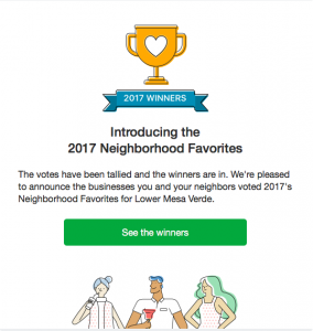 Costa Mesa Neighborhood Favorites 2017
